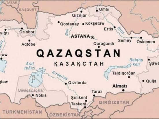 На карте казахского информагентства Оренбург оказался в составе Республики Казахстан