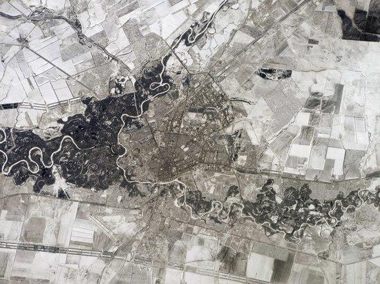 Космонавт запечатлел Оренбург с борта МКС