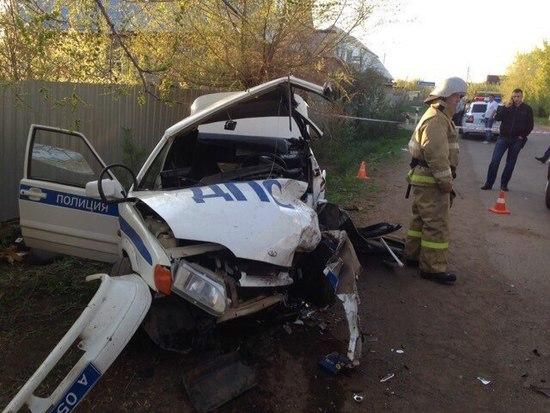 Под Оренбургом нетрезвый шофёр пошел натаран патрульной машины